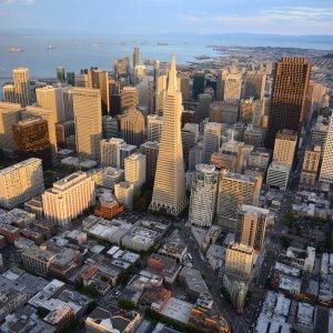 US.AR.San Francisco Stadt Blick auf die Stadt aus Vogelperspektive