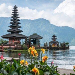 Bali.Pura_Ulun_Danu_Bratan Bali Ausflugsziel Reise Pura Ulun Danu Bratan Wassertempel Bratansee