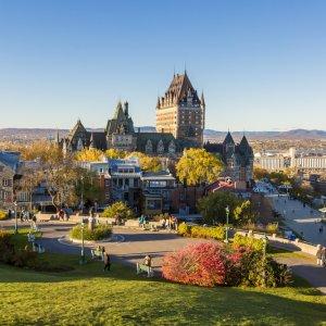 Kanada Quebec Altstadt historisches Stadtteil Vieux-Quebec Oberstadt Parc du Bastion-de-la-Reine