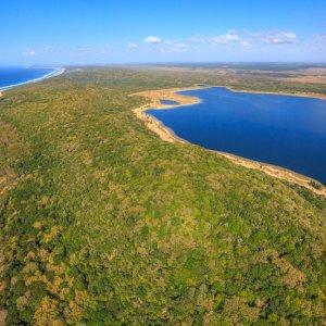 ZA.iSimangaliso.Luftaufnahme uftaufnahme des Sodwana Bay National Park im iSimangaliso Wetland Park