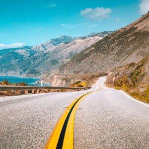 US.Highway_Number_1 Der berühmte Highway 1 in Kalifornien, USA