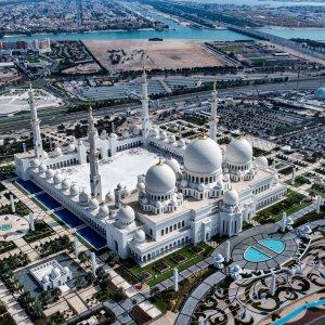UAE.Scheich-Zayid-Moschee_Aerial_View Die Scheich-Zayid-Mosche von oben in Abu Dhabi