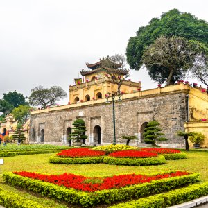 "VN.Zitadelle_Thang_Long Blick auf die königliche Zitadelle ""Thang Long"" in Hanoi"