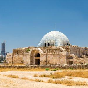 JO.Amman_Citadel_Umayyaden_Palast Jordanien Jabal Al Qal'a Amman Citadell Zitadelle Umayyaden-Palast