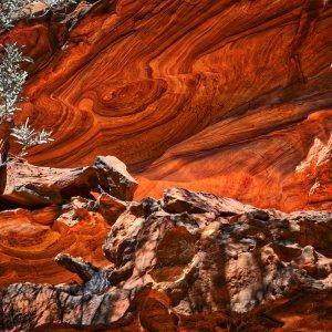 AU.Kings Canyon 3 Roter Felsen im Kings Canyon in Australien.