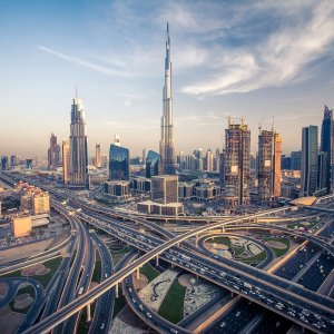 UAE.POI.Burj Khalifa 3 Verkehrsnetz von Dubai