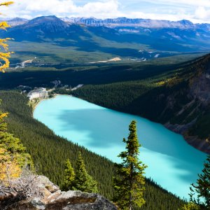 Kanada Banff Nationalpark Lake Louise Big Beehive Top View