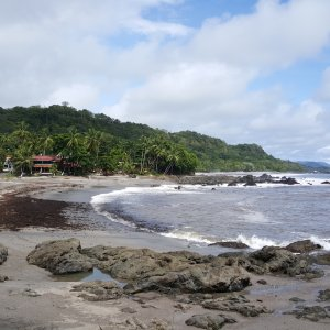 CR.Montezuma Der Blick auf die Küste von Montezuma.