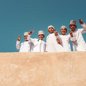 OM.POI.Nizwa Fort 4 Osmanische Kinder