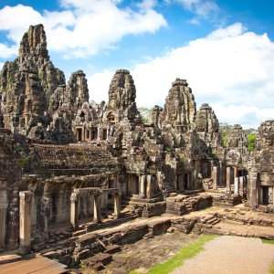 KH.Angkor_Thom_Bayon_Tempel Kambodscha Siem Reap Angkor Thom Bayon Tempel