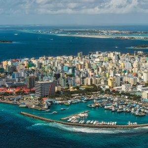 """MV.Malé Die Hauptstadt der Malediven """"Malé"""" aus der Vogelperspektive"""