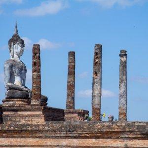 TH.AR.Sukhothai Historical Park 2 Die Buddha Statue im Historical Park