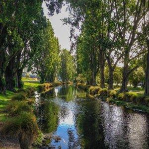 NZ.Christchurch_Avon_River Der Blick auf den Avon River.