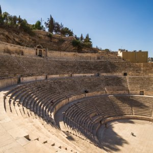 JO.Amman.Theater Altes römisches Theater in Amman