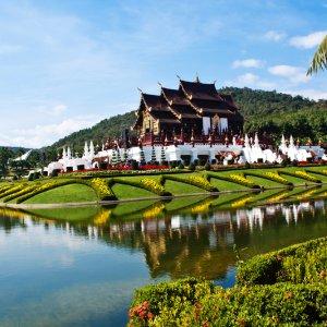 TH.AR.Ho kham luang Blick auf den Ho Kham Luang Tempel.