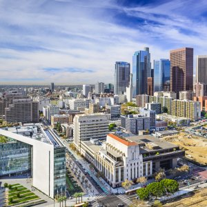 US.AR.Los Angeles Downtown Blick auf Downtown Los Angeles