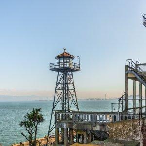 Wachturm auf der Gefägnisinsel Alcatraz