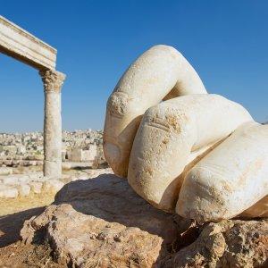 JO.Amman_Citadel_Hand_Herkules Jordanien Jabal Al Qal'a Amman Citadell Zitadelle Hand Herkules