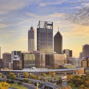 AU.Perth_City_CBD Die Skyline von Perth.