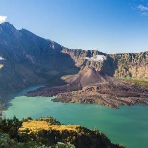 Lombok.Mount_Rinjani Der Krater des Berges Rinjani auf der Insel Lombok, Indonesien