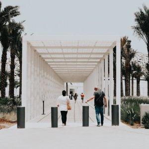 UAE.Louvre_Abu_Dhabi_Eingang Der Eingang zum Louvre in Abu Dhabi