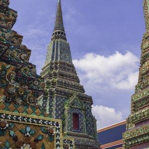 TH.Wat_Pho Die Strukturen des Wat Pho-Tempel in Bangkok