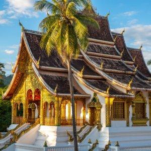 LA.Luang_Prabang_Ho_Kham Der Blick auf einen prachtvollen Palast in Luang Prabang, Laos.
