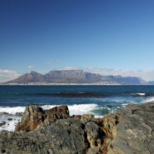 ZA.Robben Island 2 Blick von Robben Island auf das Festland
