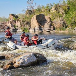 CR.Rio Pacuare 3 Vier Personen beim Wildwater Rafting