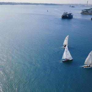 Mombasa.Sailboats Sailboats in Mombasa Harbour
