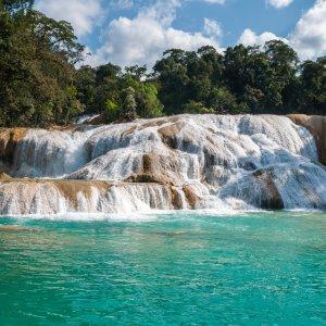 MX.Cascadas_Agua_Azul Die türkisblauen Wasserfälle Mexikos
