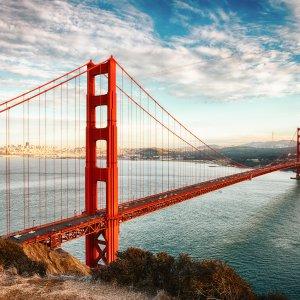 "US.Golden_Gate_Bridge Die Brücke ""Golden Gate Bridge"" in San Francisco (USA)"