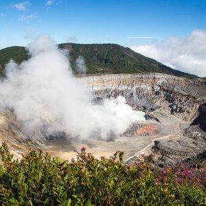 CR.Vulán Poás Naionalpark 3 Krater des Vulkan Poás
