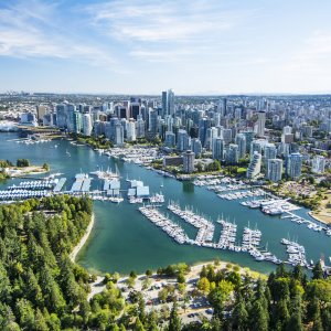 CA.Vancouver_Stanley_Park Kanada Vancouver Skyline View Stanley Park Arial View
