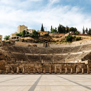 JO.Römisches_Theater_von_Amman Jordanien Amman Hauptstadt Amphitheater Römisches Theater