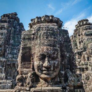 KH.Angkor_Thom_Gesichtertürme_Bayon_Tempel Kambodscha Siem Reap Angkor Thom Bayon Tempel Gesichtertürme