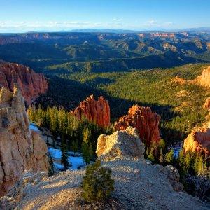 US.AR.Bryce Canyon Nationalpark 2 Blick über die Landschaft des Nationalparks