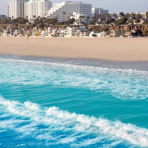 Der Strand von Santa Monica