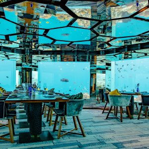 "MV.Sea.Fire.Salt.Sky Das Unterwasserrestaurant ""Sea.Fire.Salt.Sky"" auf den Malediven"