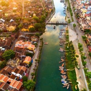VN.Hoi_An Der Blick von oben auf die Stadt Hoi An.