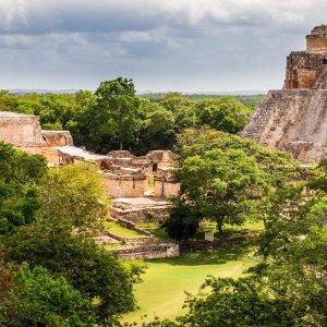MX.Uxmal Die Ruinen der alten Mayas in Uxmal
