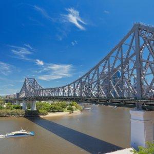 AU.Brisbane_Story_Bridge Der seitliche Blick auf die Story Bridge in Brisbane.