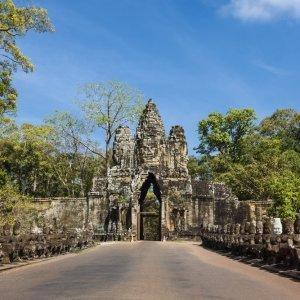 KH.Angkor_Thom_Südeingang Kambodscha Siem Reap Angkor Thom Bayon Südeingang Südtor