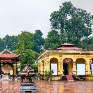 """VN.Zitadelle_Thang_Long_Innenhof Blick auf den Innenhof der Zitadelle """"Thang Long"""" in Hanoi"""