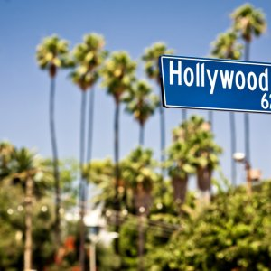 US.AR.Los Angeles Hollywood Ein Hollywood Straßenschild
