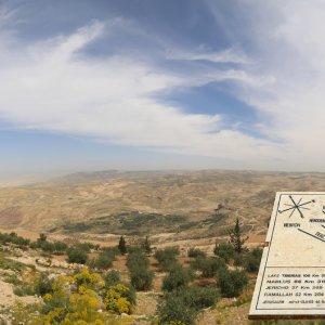 JO.Nebo_Bergblick Jordanien Nebo Berg Denkmal Heiliges Land Moses
