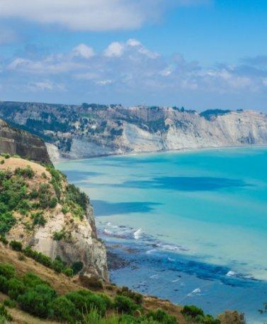 NZ.Hawke's Bay.Küstenlinie