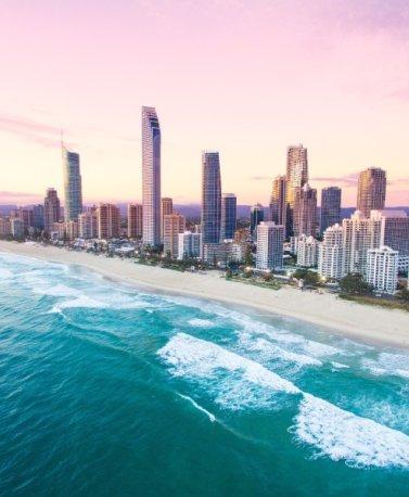 AUS.Surfers Paradise Sonnenuntergang