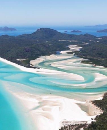 AUS.Whitsunday Islands aus der Luft