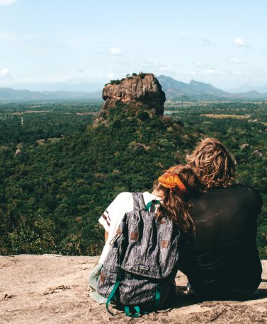 01_Couple looking out at Sigiriya